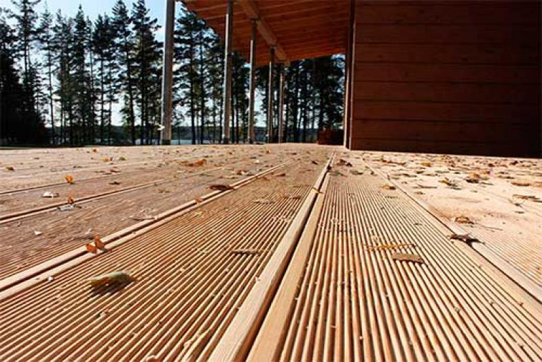 Напольная доска для террасы из дерева